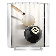 Behind The Eight Ball Shower Curtain