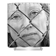 Behind The Fence Shower Curtain