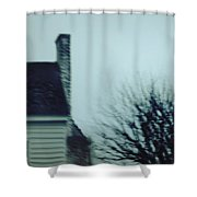 Behind The House Shower Curtain by Margie Hurwich