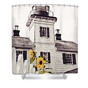 Behind The Lighthouse  Shower Curtain