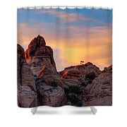 Behind The Rocks Shower Curtain