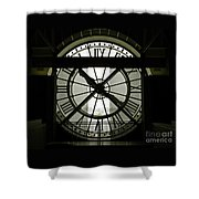 Behind Time Shower Curtain