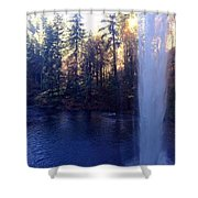 Behind Water Fall  Shower Curtain