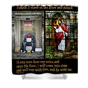 Behold I Stand At The Door And Knock Composite Shower Curtain