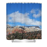 Behold The Blue Sky Shower Curtain