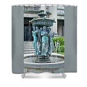 Beiger Mansion Fountain  Mishawaka Indiana Shower Curtain