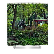 Beijing Gardens Shower Curtain