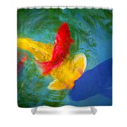 Being Koi Too Shower Curtain