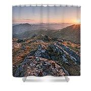 Sunset From Beinn Ghlas - Scotland Shower Curtain