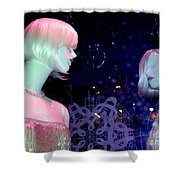 Bejeweled Blondes Shower Curtain