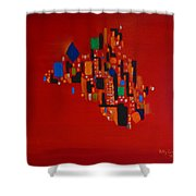 Bejeweled City Shower Curtain
