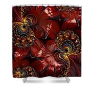 Bejewelled Crimson Shower Curtain