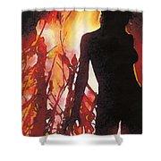 Bel Fire Shower Curtain