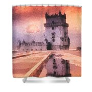 Belem Tower Shower Curtain