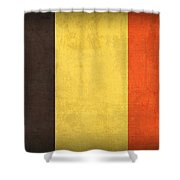Belgium Flag Vintage Distressed Finish Shower Curtain by Design Turnpike