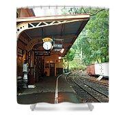 Belgrave Train Station Shower Curtain
