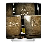 Believe In Love - Photography By William Patrick And Sharon Cummings Shower Curtain