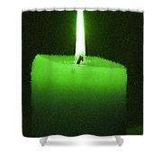 Believe In The Light Shower Curtain