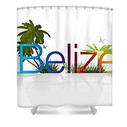 Belize Shower Curtain by Aged Pixel