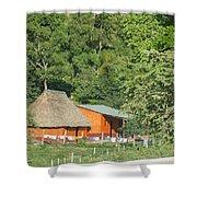 Belize House Shower Curtain