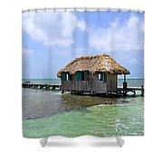 Belize Pier And Seascape Shower Curtain