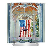 Bell And Flag Shower Curtain