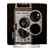 Bell And Howell 333 Movie Camera Shower Curtain
