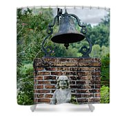 Bell Brick And Statue Shower Curtain
