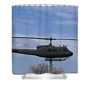 Bell Helicopter Uh-1 Iroquois - Huey Shower Curtain
