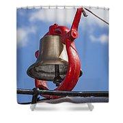 Bell On Steam Engine Shower Curtain