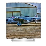 Bell P-59 Airacomet Shower Curtain