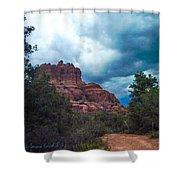 Bell Rock Drama Sky Shower Curtain
