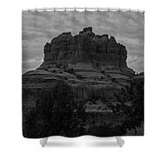 Bell Rock In Black White Shower Curtain
