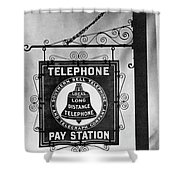 Bell Telephone Sign, C1899 Shower Curtain