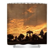 Bell Tower At Sunset Shower Curtain