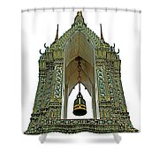 Bell Tower In Wat Po In Bangkok-thailand Shower Curtain