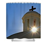 Bell Tower Sun Burst  Tumacacori Mission Shower Curtain