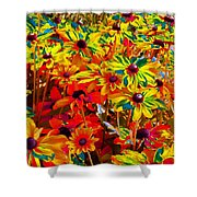 Bella Flora Painting Shower Curtain