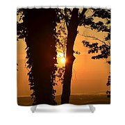Bella Vista Sunset 3 Shower Curtain