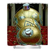 Bellagio Christmas Ornaments Shower Curtain