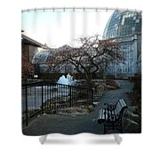 Belle Isle Conservatory Courtyard Shower Curtain