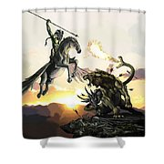 Bellephron Slays Chimera Shower Curtain