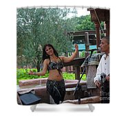 Belly Dancer And Performer At Morocco Pavilion Shower Curtain
