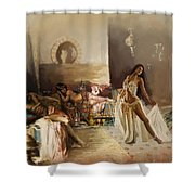 Belly Dancer Lounge Shower Curtain by Corporate Art Task Force