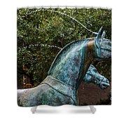 Belmond Charleston Place Horse Fountain Shower Curtain