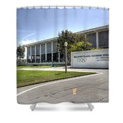 Belmont Plaza Olympic Pool Shower Curtain