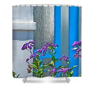 Belmont Shore Blue Shower Curtain