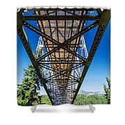 Below A Bridge Shower Curtain