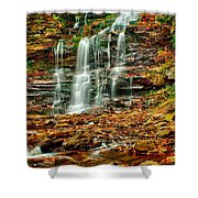 Below Ganoga Falls Shower Curtain