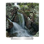 Below Mina Sauk Falls 4 On Taum Sauk Mountain Shower Curtain